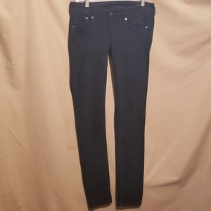 H&M &DENIM BLK SUPER SKINNY/LOW JEANS 29/32